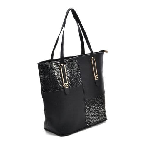 Just In New PU Leather Crocodile Large Tote Handbag, Womens Leather Bag