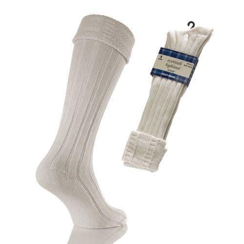 Kilt Socks Mens Kilt Socks Scottish Highland Wear Kilt Socks Natural Wool Blend