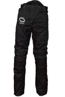 Men Textile Waterproof Motorbike Motorcycle Thermal Armoured Trouser Pant Black