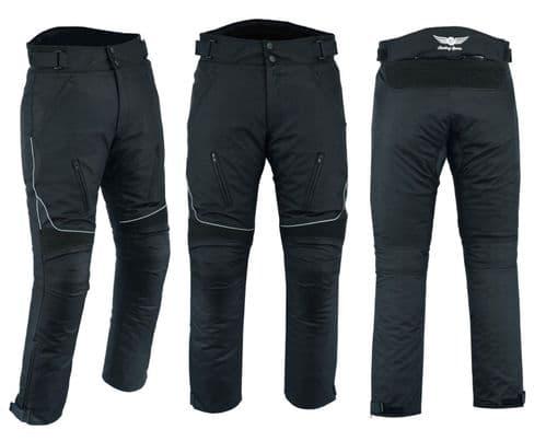 Mens Motorbike Motorcycle CE Armoured Waterproof Cordura Textile Pants Trousers