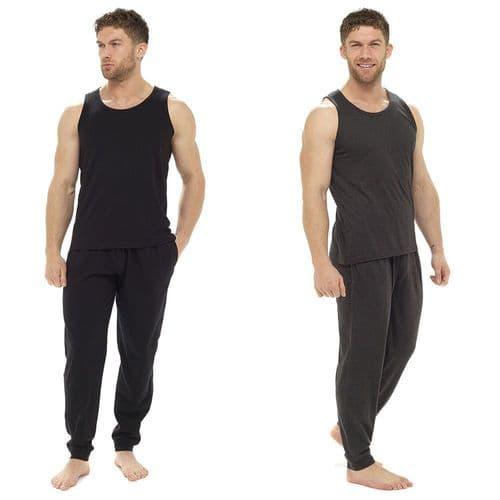 Mens Sleeveless Vest and Slim Pants Lounge Set / Pyjama Set / PJ Set M L XL XXL