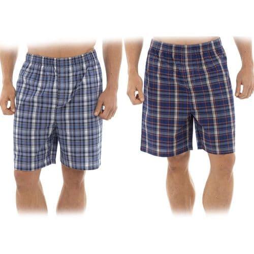 Mens Summer Short CHECK Sleep Night Wear Pyjamas PJ Bottoms Lounge Beach Causal