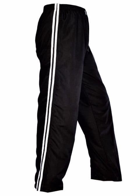 Mens Tracksuit Bottoms Mesh Lining Casual Gym Jogging Jogger Sweat Pants Black S