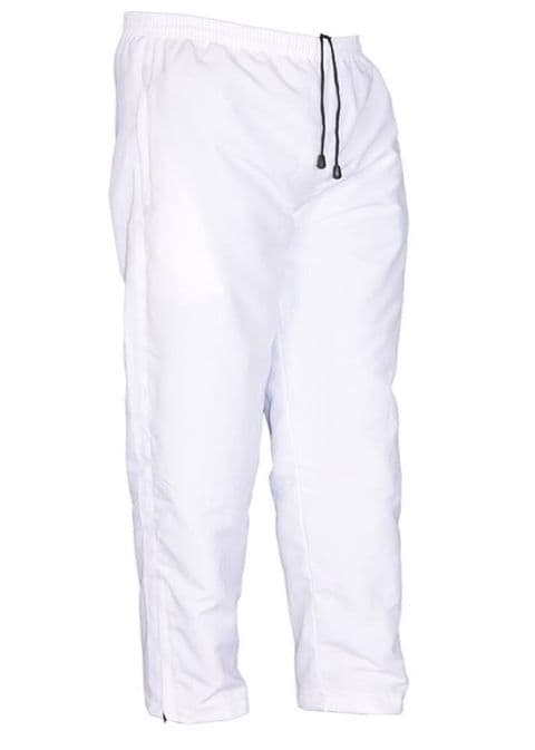 Mens Tracksuit Bottoms Mesh Lining Casual Gym Jogging Joggers Sweat Pants white