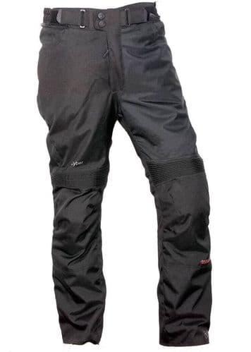 Motorbike Motorcycle Trousers Waterproof Cordura Textile Pants CE Armours BLACK