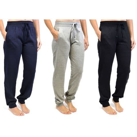 New Ladies Joggers Jogging Bottoms Trousers Sizes 8-18 Yoga Gym Sports Training