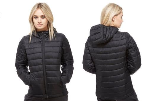 New Ladies Quilted Padded Puffer Bubble Warm Thick Womens Jacket Coat Waterproof