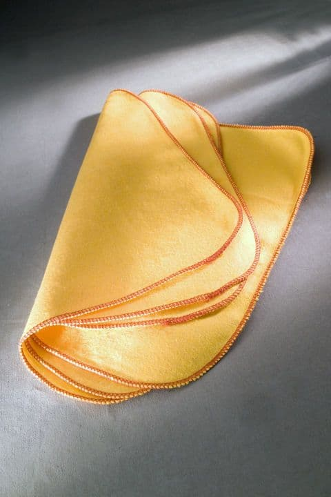 New Large Yellow  Heavy duty Duster 100% cotton Pack of 12 cleaning dusters