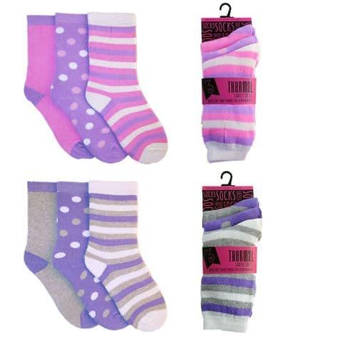 RJM Ladies 6 Pack Polyester Thermal Socks Warmer Winter Bed Socks UK 4-7 Women