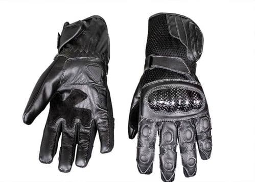 Real Leather Motor Cross Motorcycle Motorbike Racing Protective Leather Gloves