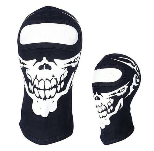 Skull Thermal Cotton Fabric Balaclava Face Mask for Fishing-Cycling & Motorbike