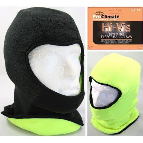Thermal Fleece High Viz Balaclava Mask Reversible Fishing Cycling Motorbike New
