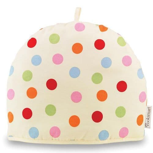Cooksmart Spotty Tea Cosy Teapot Pot Cover Warmer Cotton Insulated Gift