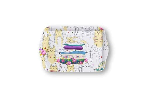 Cooksmart Top Cats Small Melamine Tray Cats Scatter tray