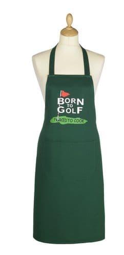 Cooksmart Unisex Born To Golf Cotton Apron Funny Kitchen Bbq Apron