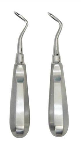 Dental Root Elevators FLOHR-3 3.5mm Right and Left Curved German® Instruments