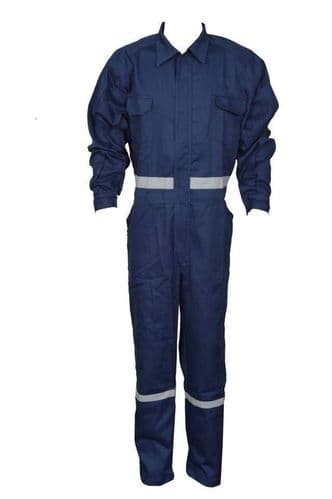 Hi-Vis Mens Boiler Suit Overall Coverall Mechanic College Work Navy Blue Overall