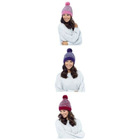 Ladies Women Hat Thinsulate Waterproof Winter Hats Pink Purple Red One Size 721