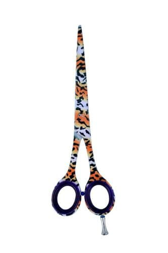New Barber Tiger pattern Hairdressing Shear Hair Cutting Scissor Salon Sharp 5.5