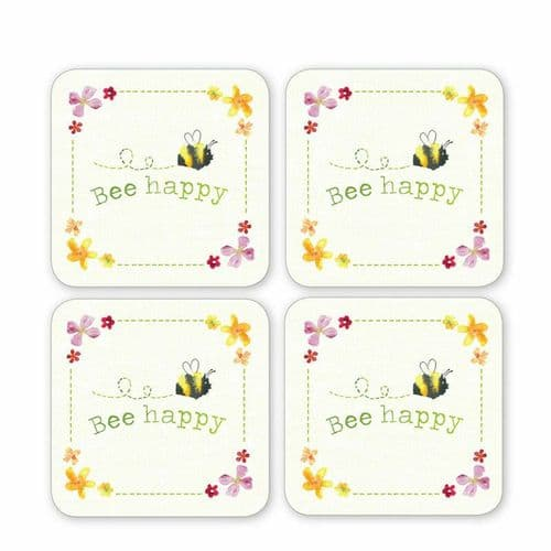 New Cooksmart 4 Pack of Coasters Multi-Various bee spotty beside chatsworth etc.