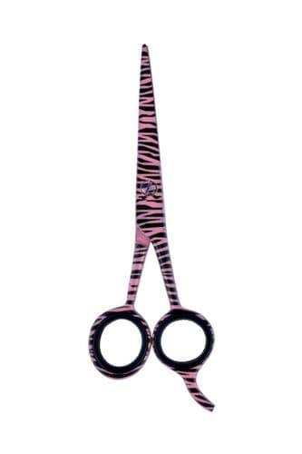 Profession Salon Cutting Hairdressing Sharp Scissor Baby Pink Zebra Pattern 5.5