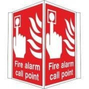 Projecting Fire Alarm Call Point Sign
