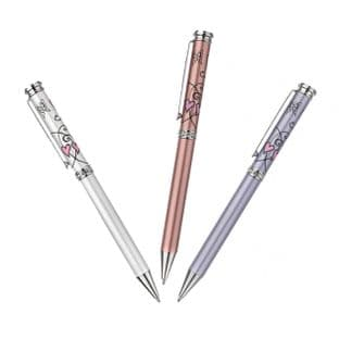 Butterflies & Hearts Crystal Pens