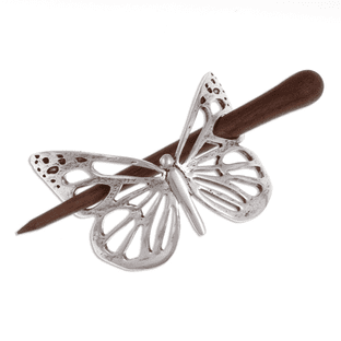 Butterfly Hairslide with Rosewood Pin