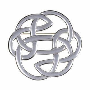 Celtic Lugh's Knot Pewter Brooch