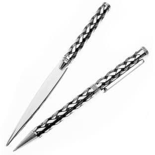 Celtic Plaid Pen & Letter Opener Gift Set