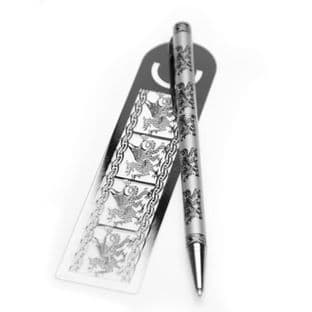 Pen & Bookmark Welsh Dragon Design (2)