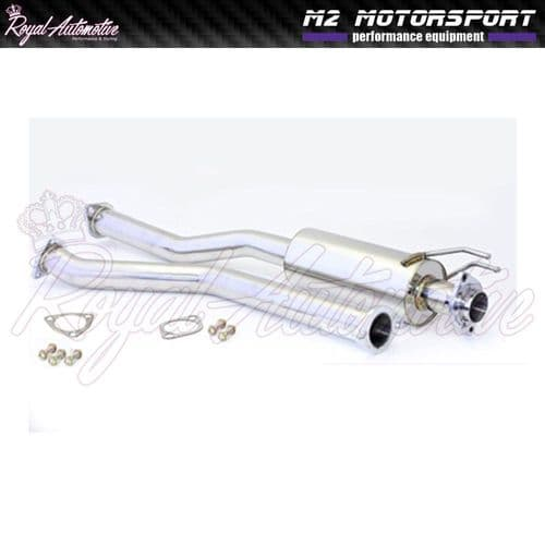 Honda Civic EP1 EP2 Stainless Steel Exhaust Centre Section Mid Pipe Silenced M2
