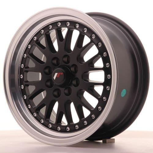 Japan Racing JR10 15x7 ET30 4x100/108 Black with machined lip