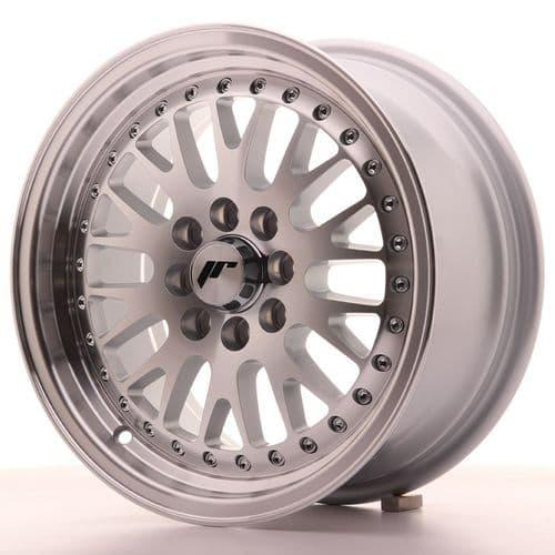 Japan Racing JR10 15x7 ET30 4x100 4x108 Machined Silver
