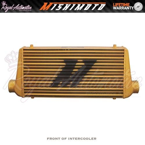 "Mishimoto M line Universal Performance Aluminium Intercooler 3"" Core Turbo Gold"