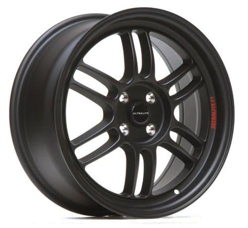 Ultralite F1 17x7.5 ET42 4x100 Flat Black
