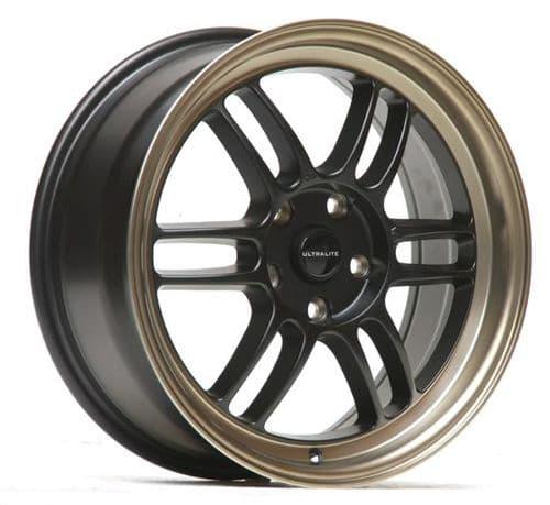 Ultralite F1 17x7.5 ET42 4x100 Flat Black Bronze Lip