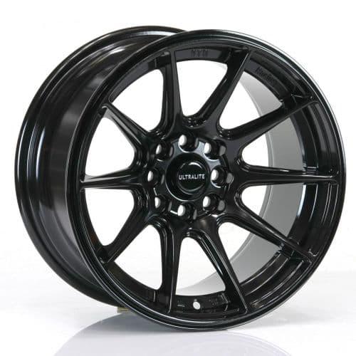 Ultralite Ul11 15x8 ET0 4x100 4x108 Gloss Black