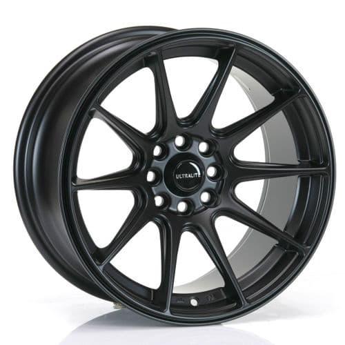 Ultralite Ul11 16x8 ET25 4x100 4x108 Flat Black