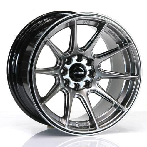 Ultralite Ul11 Wheels 15x8 ET0 4x100 4x108 Chrome Black