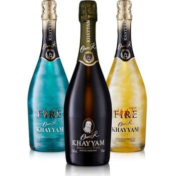 Omar Khayyam's Legend, Fire Sky & Fire Volcano Premium Sparkling Wine With Visual Effects Value Pack