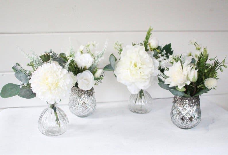 Artificial Floral Bud Vase Arrangement