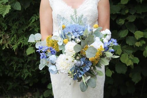 Aurora artificial dusty blue  bouquet