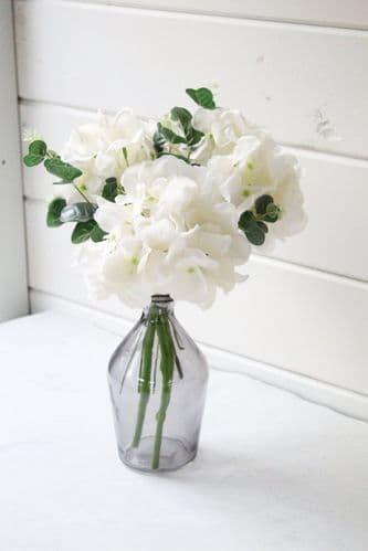 Faux Hydrangea Vase Arrangement