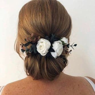 Talia White/ivory Floral Hair Comb