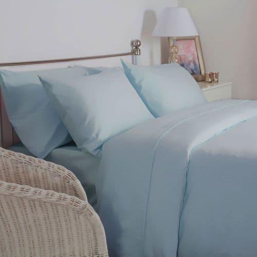 100% Brushed Cotton Flat Sheet & Pillowcase Bundle