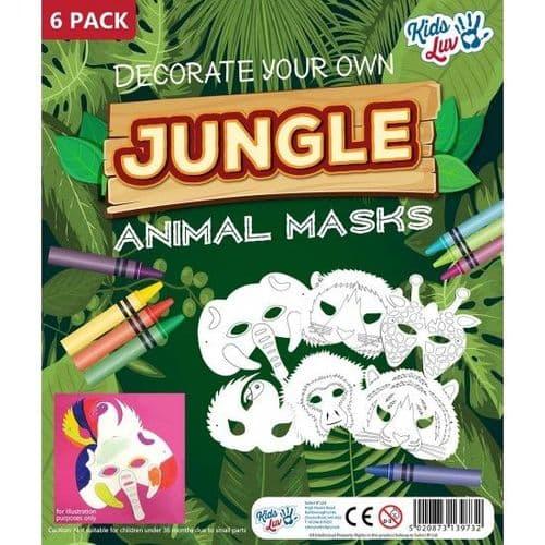 Jungle Animal Masks - 6 Pack