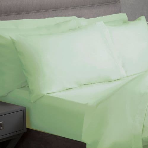 Percale Polycotton 200TC Fitted Sheet and Pillowcase Set from only £29.99