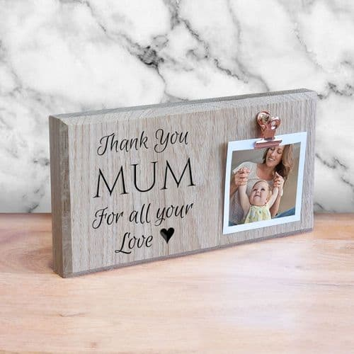 Personalised Engraved Mother's Day Photo Holder