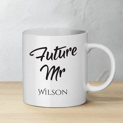 Personalised Future Mr & Mrs Ceramic Mug Set